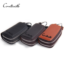Classic New Arrival Double Zip Men's Genuine Cow Leather Car Key Holder Multifuncation Housekeeper  High Class Motor Key Case(China (Mainland))