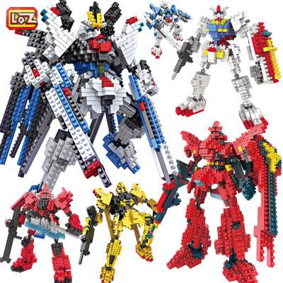 LOZ Gundam Blocks DIY IROBOTS Mini Blocks Educational Building Toys Cartoon DIY Blocks Children Gifts Kids Toys 9350(China (Mainland))