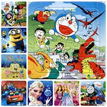 3pcs/set Paper jigsaw puzzles for children kids toys brinquedos Cartoon Puzzle for children Baby toys educational(China (Mainland))
