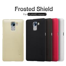 10pcs/lot Huawei Honor7 Hard case,NILLKIN Super Frosted Shield  hard case For Huawei Honor 7 with screen Flim + retai box