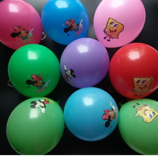 100pcs Top quality cartoon mouse print balloons kid toys company promotional gift baby party decoration balao balo blue balls(China (Mainland))