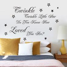 Buy English little star text pattern wall paste bedroom children 's room living room TV sofa background wall stickers decoration for $10.44 in AliExpress store