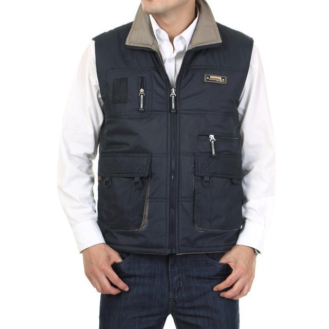 Новое поступление мужская осень зима жилет холодно - доказательство мульти-карман ...
