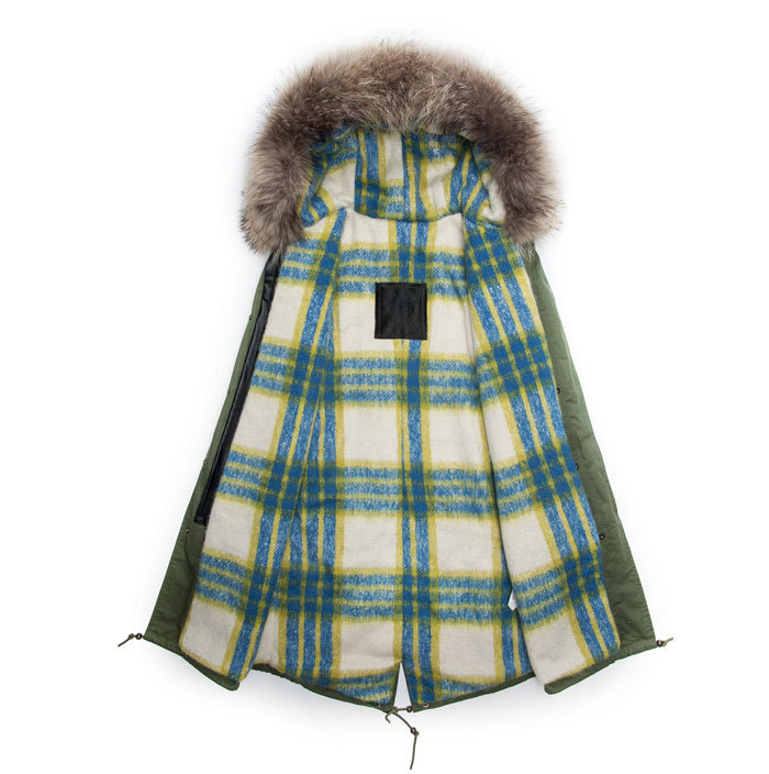 fur hoodes parka special lining thick Male - foxfurs store