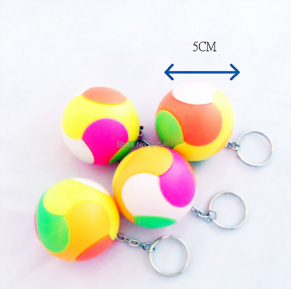 Lot of 3 piece 5cm puzzle ball key chain ideal for for Backyard party decoration crossword