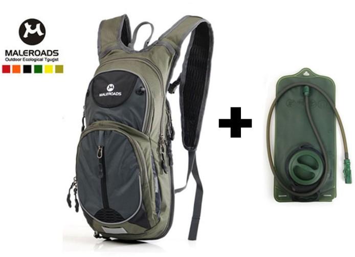 Maleroads Bicycle bag + 2L TPU Water Bag Outdoor Sport Bladder Hydration Bike Bag Cycling bag cycle backpack running pack(China (Mainland))