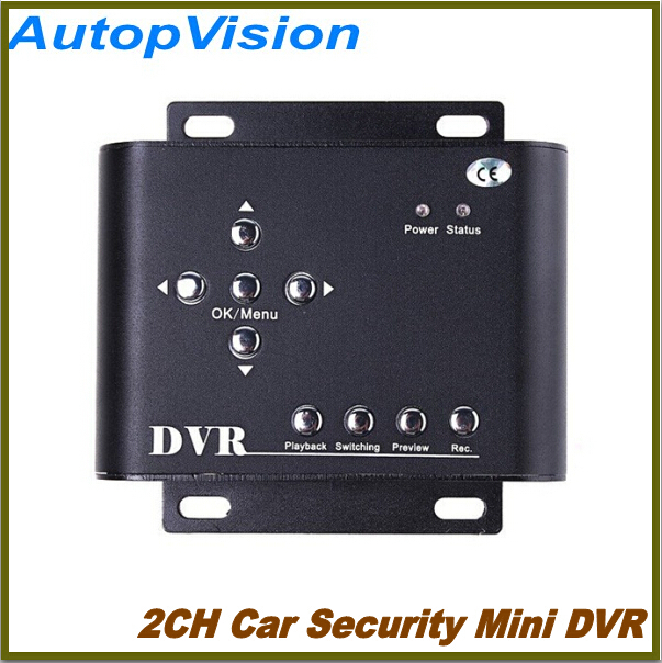 HD Durable 2CH Car Security Mini DVR SD Video/Audio CCTV Camera Recorder freeshipping <br><br>Aliexpress
