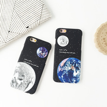 2016 Airship Astronaut Stars Moon Night cosmic picture phone Case For iphone 6 6s Plus 4.7 5.5  Cover soft TPU women girl coque(China (Mainland))