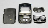 New OEM Replacement Full Housing Cover with Keyboard Black color Case for BlackBerry Curve 9360 Free shipping