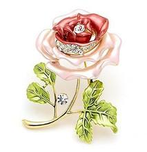 Decorative Garment Dress Accessories Wedding Bridal Luxury Rhinestone Flower Rose Brooch Pin