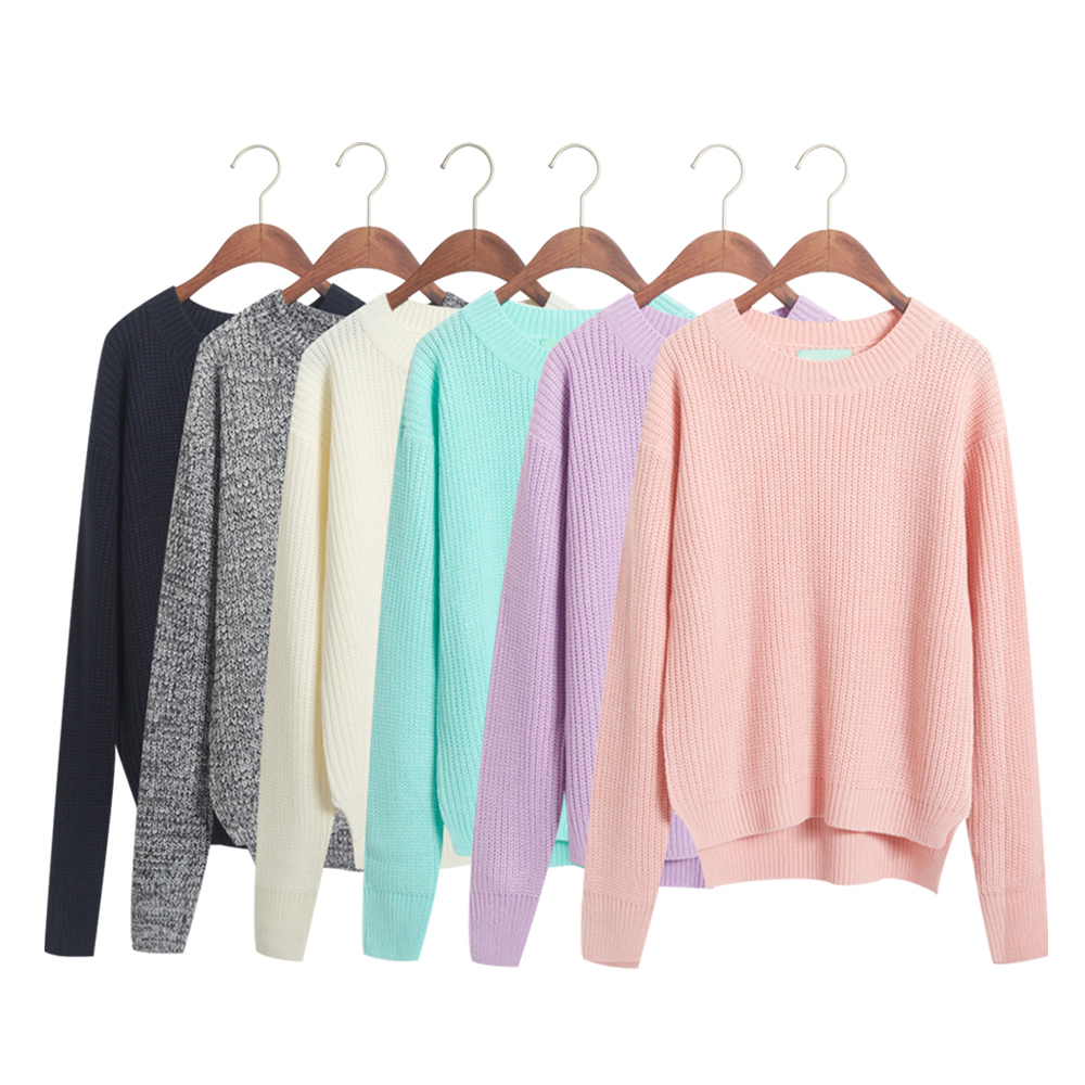 Euro/Americal Fashion Brand 2014 2015 Autumn winter brief o-neck knitted outerwear female women sweater shirt - Joyful Shop store