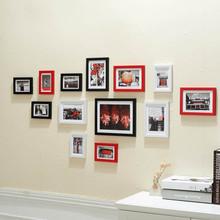 Photo frame wall, frame composition, studio wedding photo frame 13 frame photo wall thickening