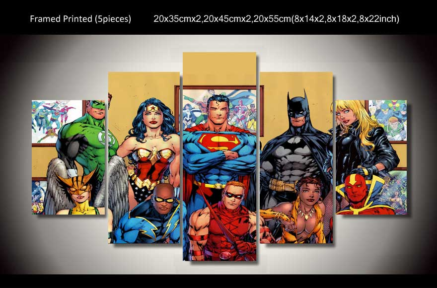 Dc Comics Wall Art compare prices on superheros canvas wall art- online shopping/buy
