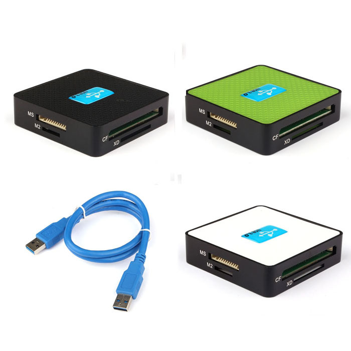 Fashion All-In-1 USB 3.0 Compact Flash Multi Card Reader CF Adapter Micro SD MS Anne(China (Mainland))