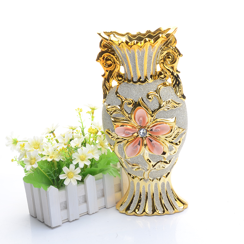 Europe Tabletop Vase Modern Fashion Ceramic Flower Vase Large Ceramic Vases Flower Pot Home Decorative Wedding Decoration(China (Mainland))