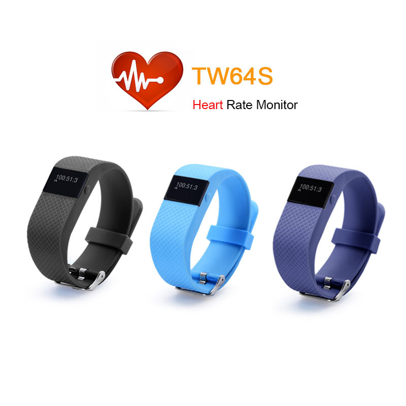 TW64S Bluetooth 4.0 Smart Bracelet Smart Band IP67 Heart Rate Monitor Wristband Fitness Tracker for Android IOS Xiaomi Mi 5(China (Mainland))