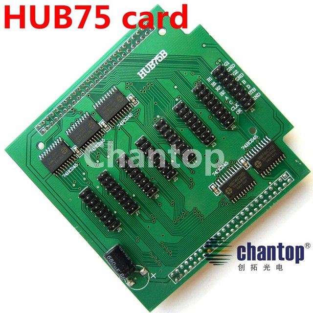 HUB75/HUB75B Full color led screen display module conversion card adapter 8*hub75 port included For LED board