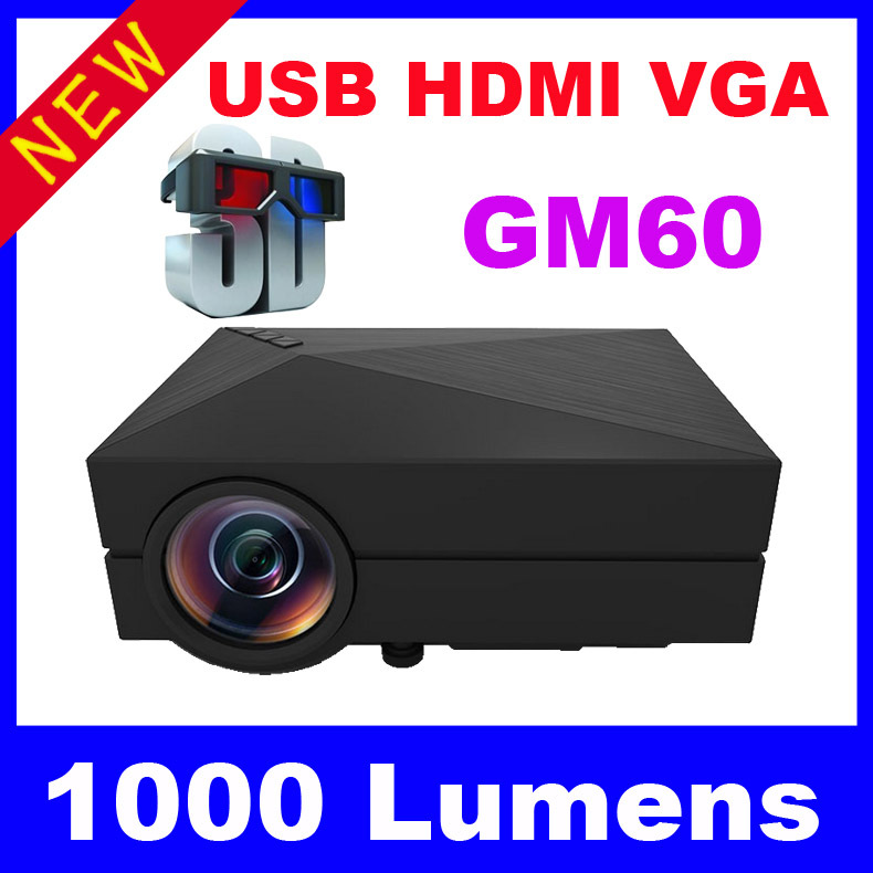 GM60 1080P HD Home Theater 3D Cinema HDMI USB LCD Portable Best Video Game LED Mini Projector Proyector Beamer Projetor(China (Mainland))