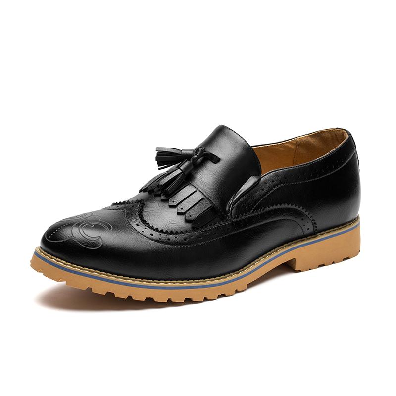 new mens suit dress italian leather shoes 2015 men designer tassel loafers brogue oxfords shoes for men famous brand  male flats<br><br>Aliexpress