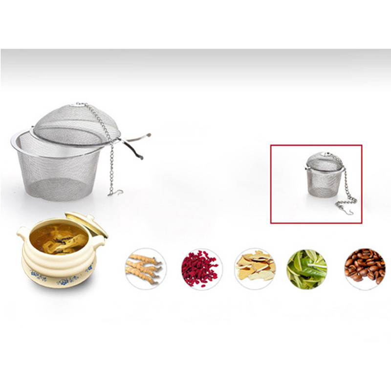 Stainless Steel Tea Strainer Infuser Tea Locking Ball Tea Spice Mesh Herbal Ball Diam 4.5cm Cooking Tools  Stainless Steel Tea Strainer Infuser Tea Locking Ball Tea Spice Mesh Herbal Ball Diam 4.5cm Cooking Tools