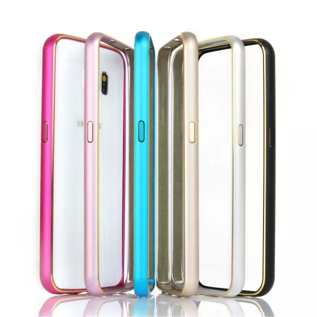 Ultra Thin Luxury Aluminum Metal Bumper Case for Samsung Galaxy S6 G9200 Cell Phone Hippocampus buckle bumper(China (Mainland))