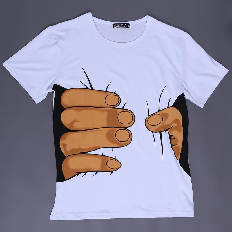 2016 Summer Cool Men's Clothing O-neck Short Sleeve Men Shirts 3D Big Hand T Shirts Tops Tees For Man Hot Selling BZ668029(China (Mainland))