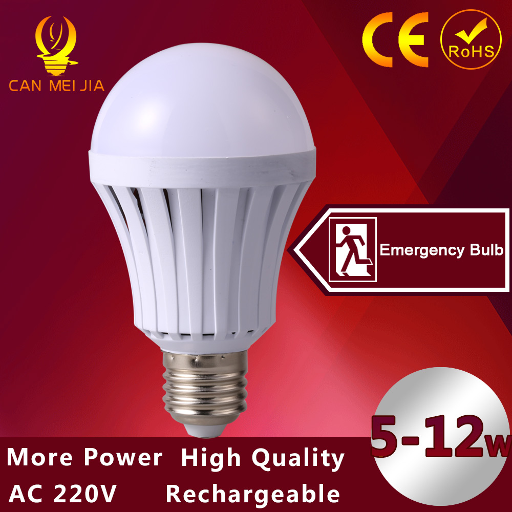 1pcs Led E27 5W Rechargeable Lamp LED Night Light 12W Emergency 7W Led Flashlight With Battery LED Light BulbS 9W SMD 5730(China (Mainland))