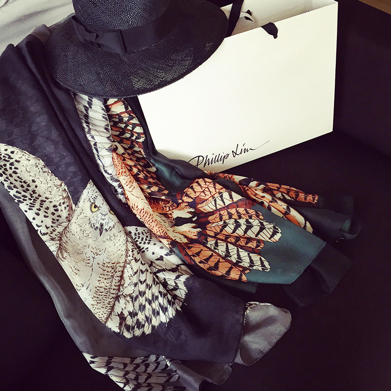 88*192cm , 2015 new style women scarf Pattern Owl geometric puzzle pattern scarf shawls and scarves brand scarf agw(China (Mainland))