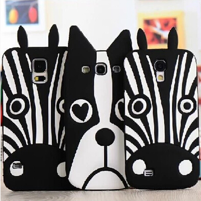 Fashion Animal Dog Zebra marc.jacobs 3d silicone Phone Case Covers For Samsung Galaxy S3 I9300 S4 I9500 S5 I9600(China (Mainland))