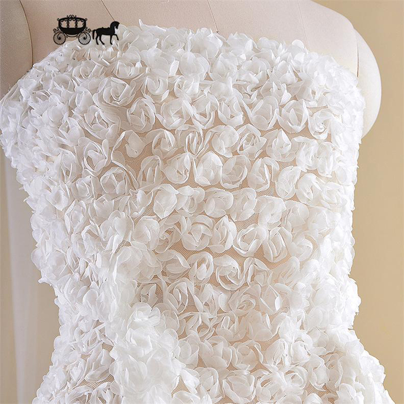 Buy 3d flowers mesh lace mateirial for Wedding dress fabric stores