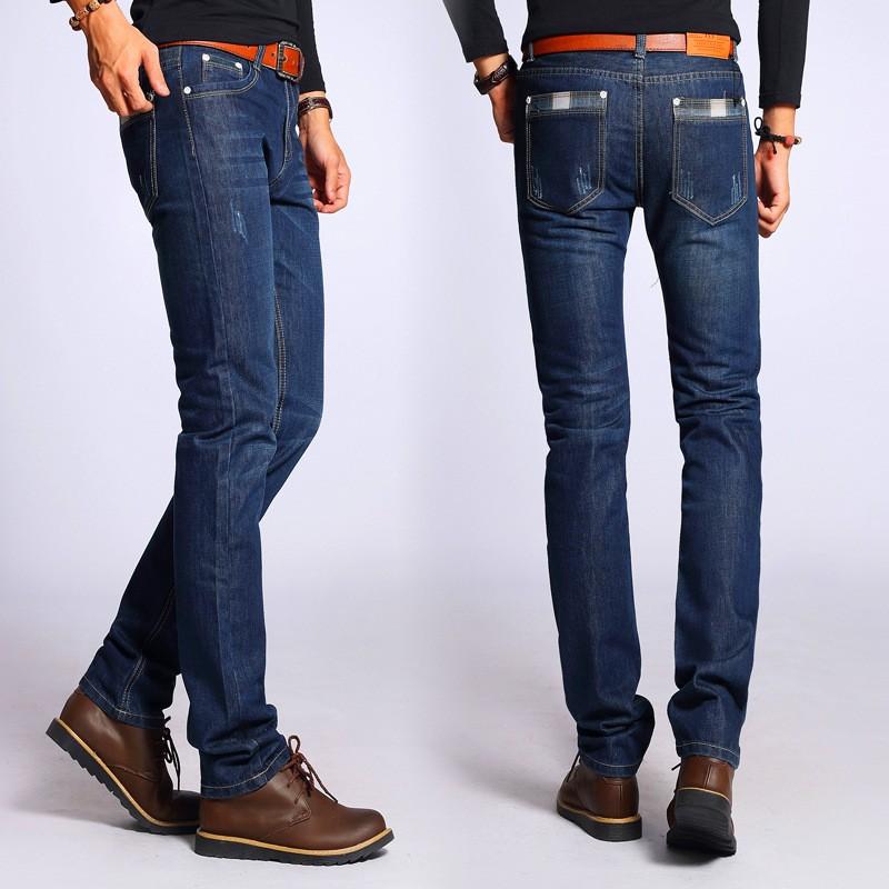 fashion men jeans long trousers solid men trend denim. Black Bedroom Furniture Sets. Home Design Ideas