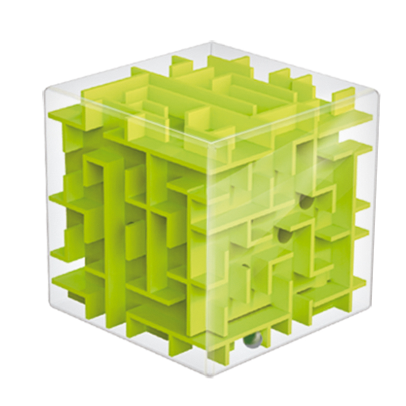 2015 Hot Three-dimensional Magic Cube Maze Labyrinth Rolling Ball Balance Game Activity Toy Unique New Design Free Shipping(China (Mainland))