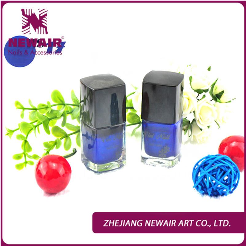 New Promotion Fast Drying Noble Blue Multicolour Nail Polish Innocuity Nail Enamel3 bottle Nail Art Care Manicure Set Radom(China (Mainland))