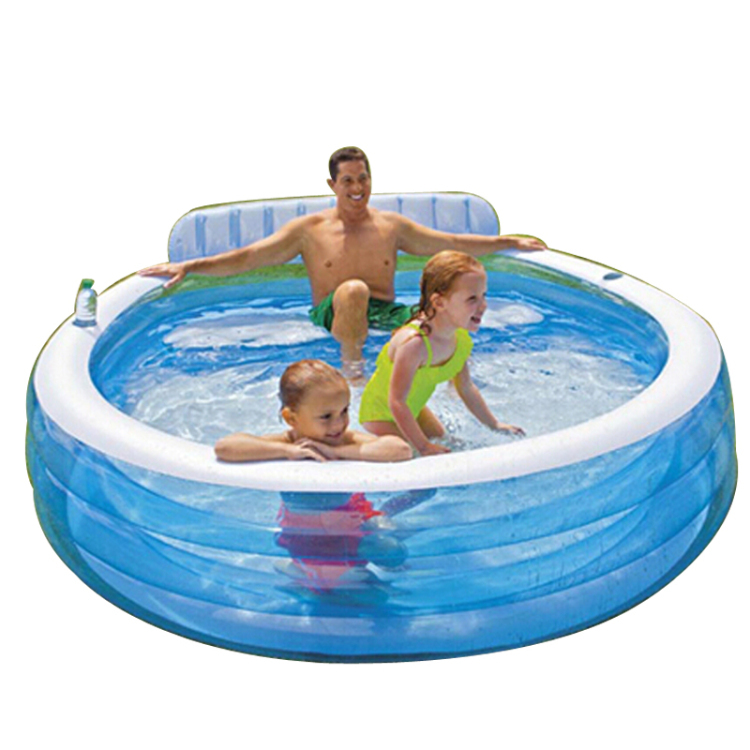 Intex inflatable family swimming pool ocean ball pool for Family paddling pool