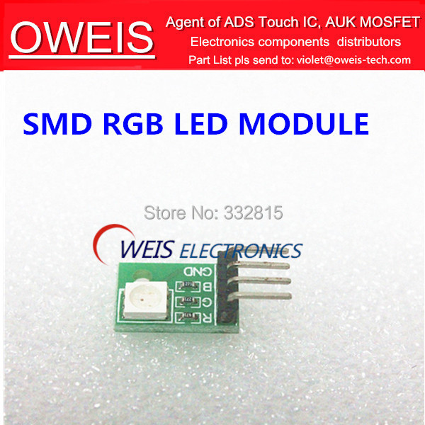 Free shipping! 2PCS RGB SMD 3 Colour LED Module 5050 Full Color Pwm For Arduino MCU D(China (Mainland))