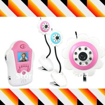 """Promoting!! 4 CH Audio video 2.4ghz wireless baby monitor ir night vision 1.5"""" tft lcd wireless Monitor Real-time baby camera"""