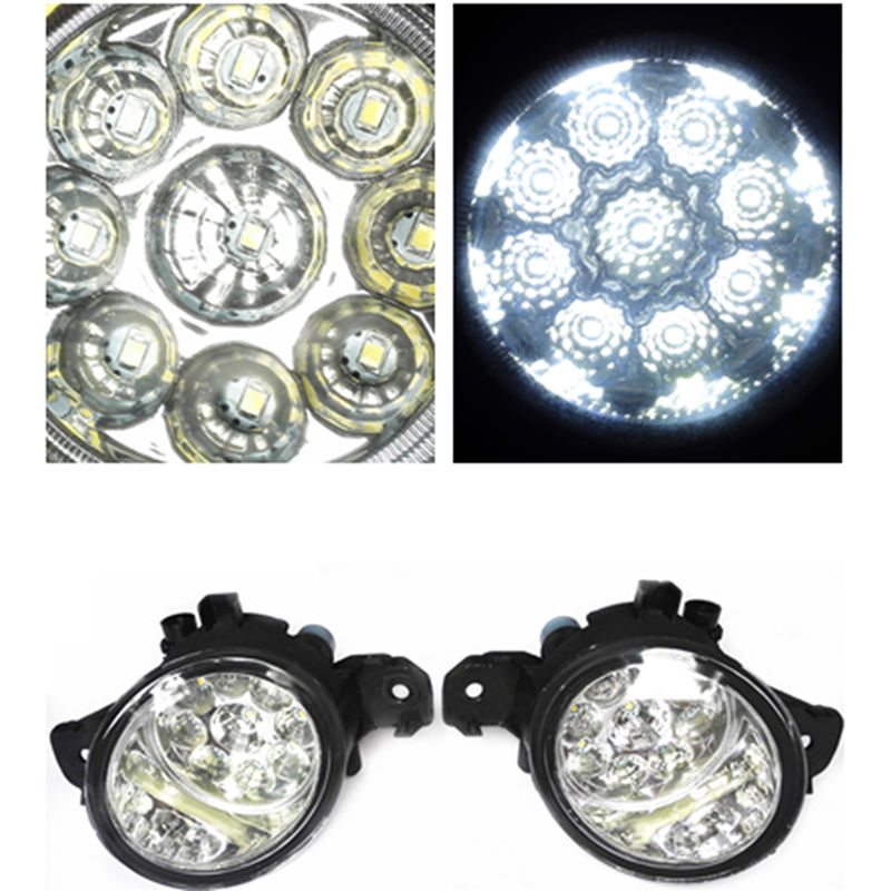 For NISSAN ALMERA 2/II Hatchback (N16) 2001-2006 Car-Styling Led Light-Emitting Diodes DRL Fog Lamps(China (Mainland))