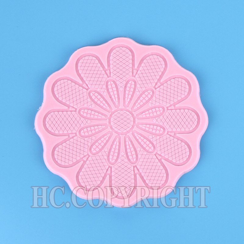 1pc Round Mid-century European Flower Lace Silicone Mould Cake Chocolate Cookies Sugarcraft Mat Kitchen DIY Home Baking Tool(China (Mainland))
