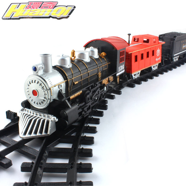 Classical train track electric rail car track toy 1.4