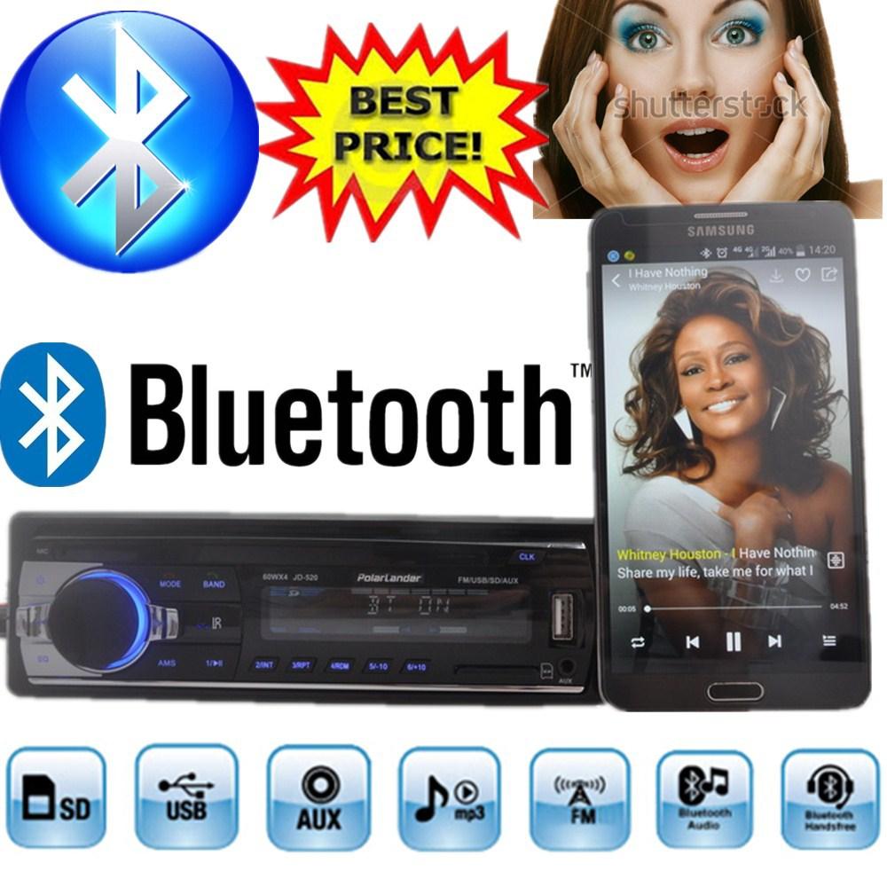2015 new Car Radio bluetooth MP3 FM/USB/1 Din/remote control/USB port 12V Car Audio bluetooth 1 din auto radio blueooth aux in(China (Mainland))