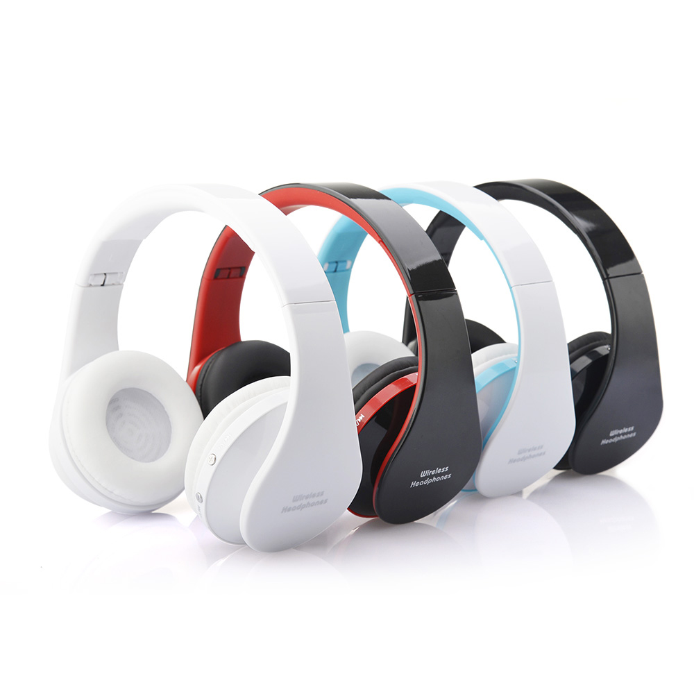 Bluetooth Wirleess Headset with MP3 Player FM Stereo Radio noise cancelling gaming headband headphone earphone with microphone<br><br>Aliexpress