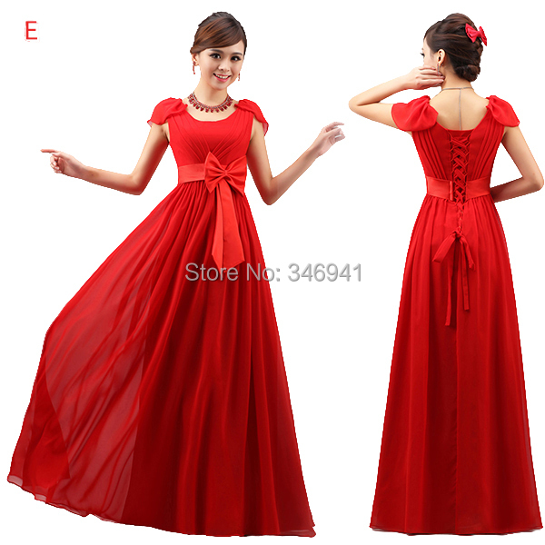 2014 new bridesmaid dresses long chiffon dress coral for Bright colored wedding dresses