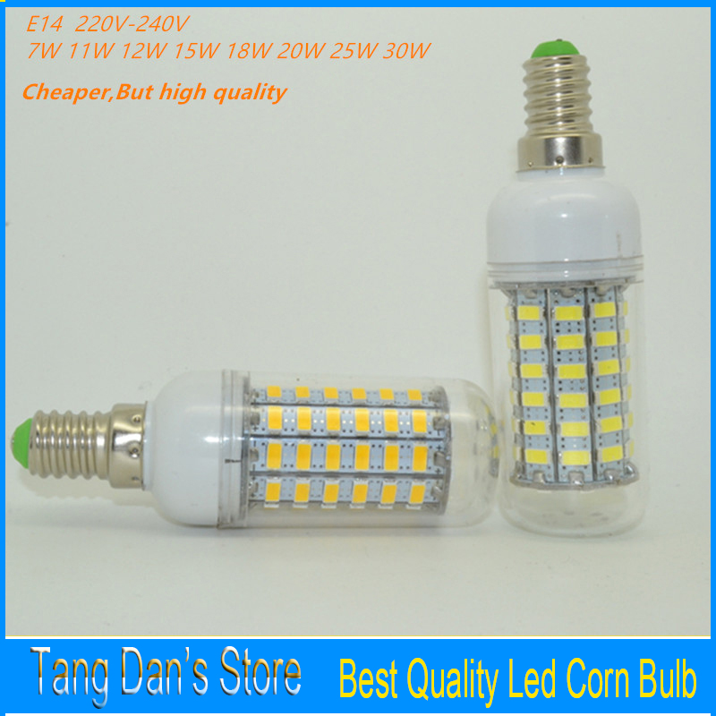 Super Bright E14 Led Candle Light 220V-240V/110v Led Corn Bulb 7W 11W 12W 15W 18W 20W 25W 30W Led Lamp For Chandelier lighting(China (Mainland))