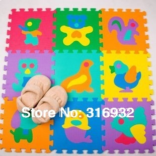 WM018 Baby Floor Mat Children's Environmental Tasteless Eva Foam Mat Eva Mats, pattern: ANIMAL, 9 pcs/pack