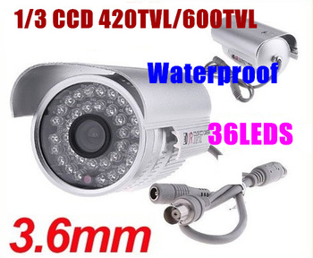 NEW  36 LEDS Color IR Night Vision Indoor/ Outdoor 1/3 CCD 420TVL  Security CCTV Camera  PAL/NTSC free shipping