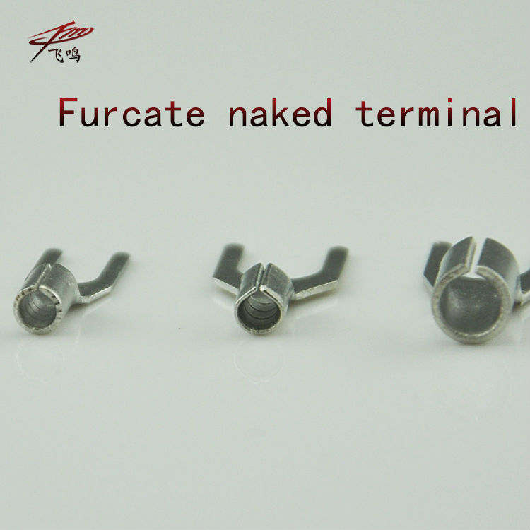 100PCS SNB3.5-4 Furcate naked terminal Non-insulated fork terminal connector