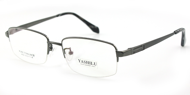 Titanium glasses light frame prescription eyeglasses male optical eyewear big face air nose pads 004