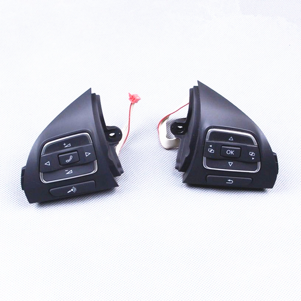 OEM Pair Multi-Function Steering Wheel Button VW Touran Golf Jetta MK6 Tiguan EOS CC Caddy Amarok 5C0 959 538 B 537A - Hongge Car Parts Store store
