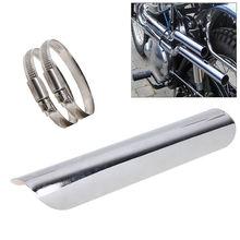 Chrome Universal Motorcycle Exhaust Muffler Pipe Leg Protector Heat Shield Cover For Harley Honda  Yamaha Kawasaki BMW Ducati(China (Mainland))