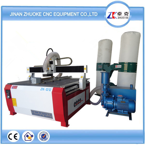 2.2KW spindle,dust collector and vacuum pump , cnc router for engraving wood 1212(China (Mainland))